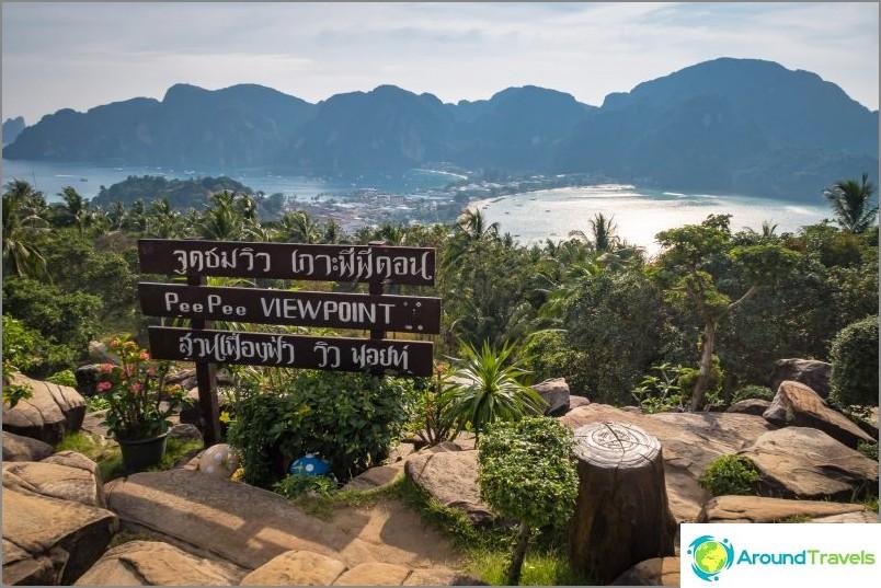 Това е основната наблюдателна площадка на Phi Phi